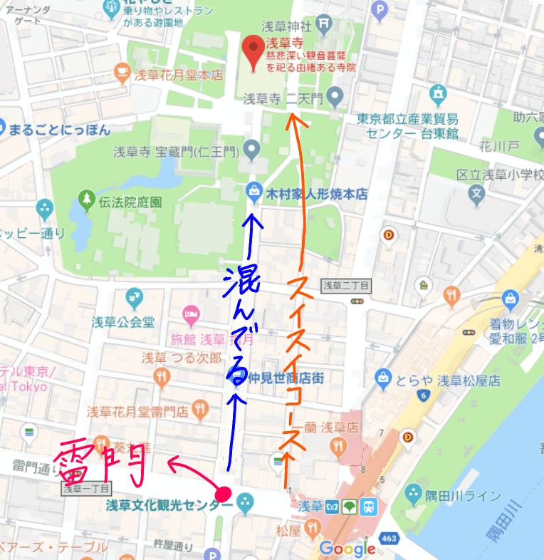 浅草寺へのアクセス